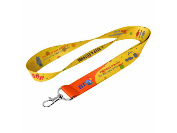20Mm Dye Sublimated Lanyard With Snap Hook