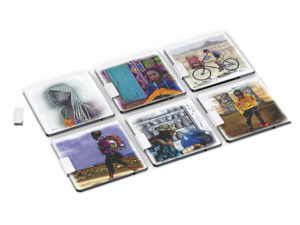 Andy Cartwright Afrique Glass Coasters