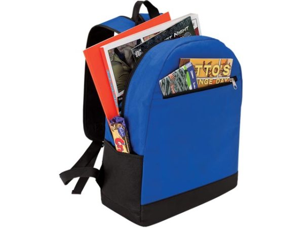 Backpack With Front Zip Pocket - Non-Woven