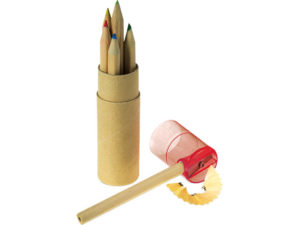 Coloured Pencil Set with Sharpener - Set of 6