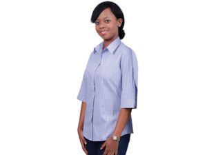 Cotton Rich Yarn Dyed Check Ladies Wendy Blouse