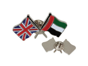 Double Flag With Magnetic Pin