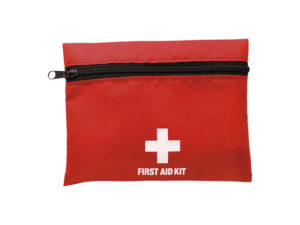 First Aid Kit In Zippered Pouch With Belt Clip