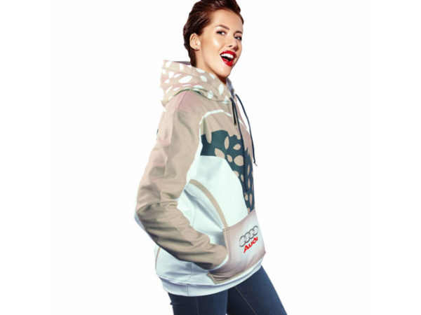Ladies Brix Sublimated Hooded Sweater With 1/4 Zip