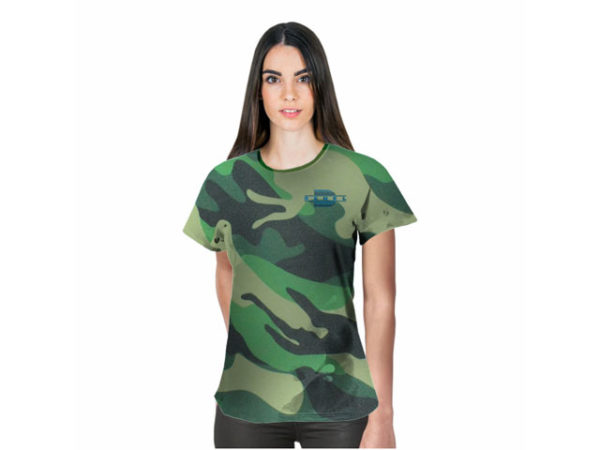 Ladies Camouflage Crew Neck TshirtL With Fc