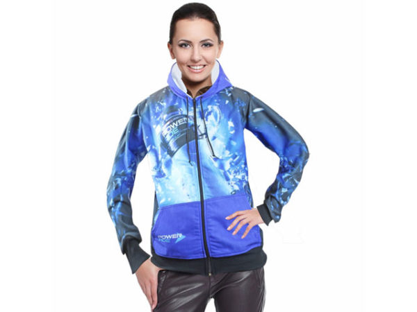Ladies Henly Sublimated Hooded Sweater With Zip