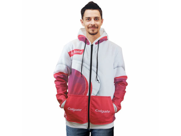 Mens Henly Sublimated Hooded Sweater With Zip