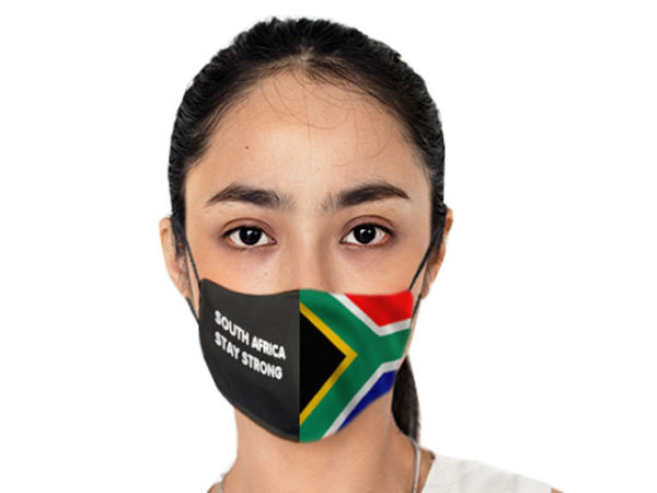 Sa Flag 3 Layer Beak Mask - Ladies
