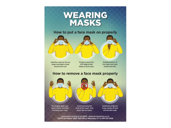 Saturn A1 Or A2 Face Masks Poster - Set Of 3