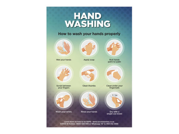 Saturn A1 Or A2 Hand Wash Poster - Set Of 3