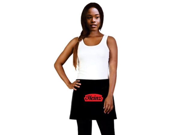 Tablier Half Apron With Screen Print